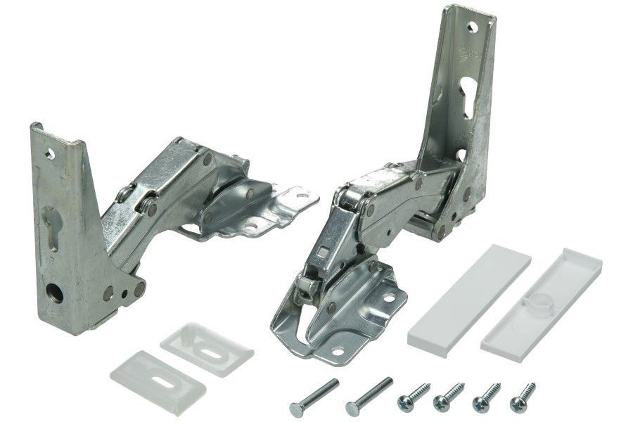 Door Hinges for Whirlpool, Bauknecht Fridge - kit 2 pcs for 1 door
