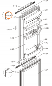 Refrigerator Seal Gorenje