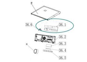 Control Electronics for Vestel Washing Machines - Part nr. Philco 301330660278