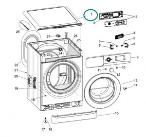 Washing Machine Panel Whirlpool / Indesit