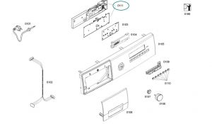 Electronic Module for Bosch Siemens Washing Machines - Part. nr. BSH 00740454