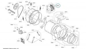 Programmed Power Module for Bosch Siemens Washing Machines - Part. nr. BSH 00746206