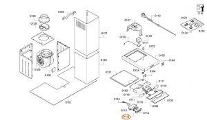 Switch, Button Extractor Hoods Bosch Siemens - 00612278